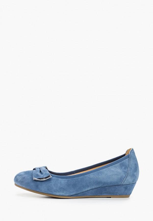 женские туфли caprice, голубые
