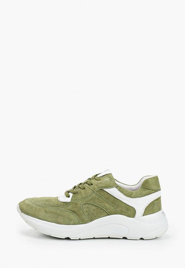 женские кроссовки caprice, зеленые