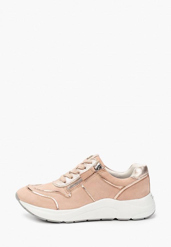 женские кроссовки caprice, розовые