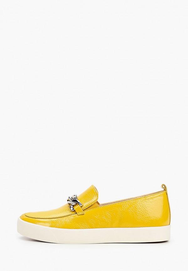 женские слипоны caprice, желтые