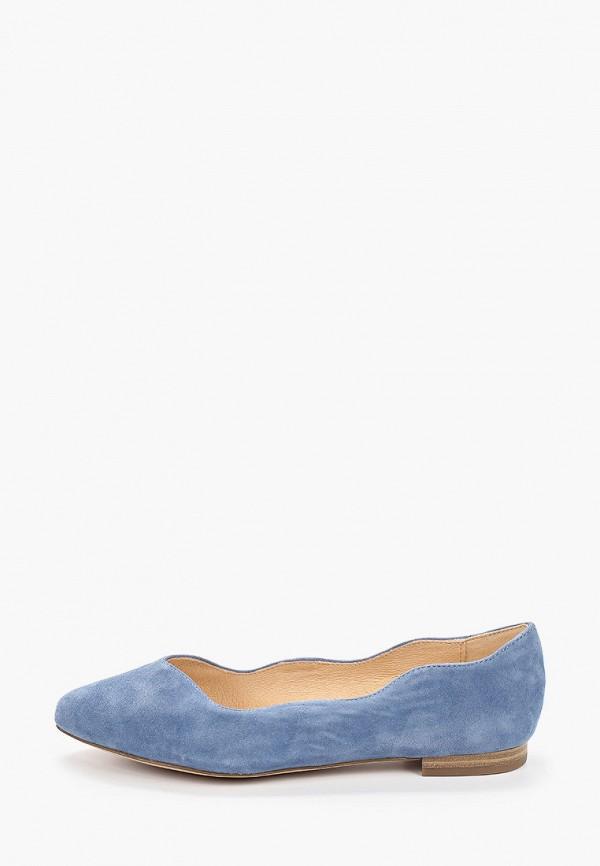 женские балетки caprice, голубые