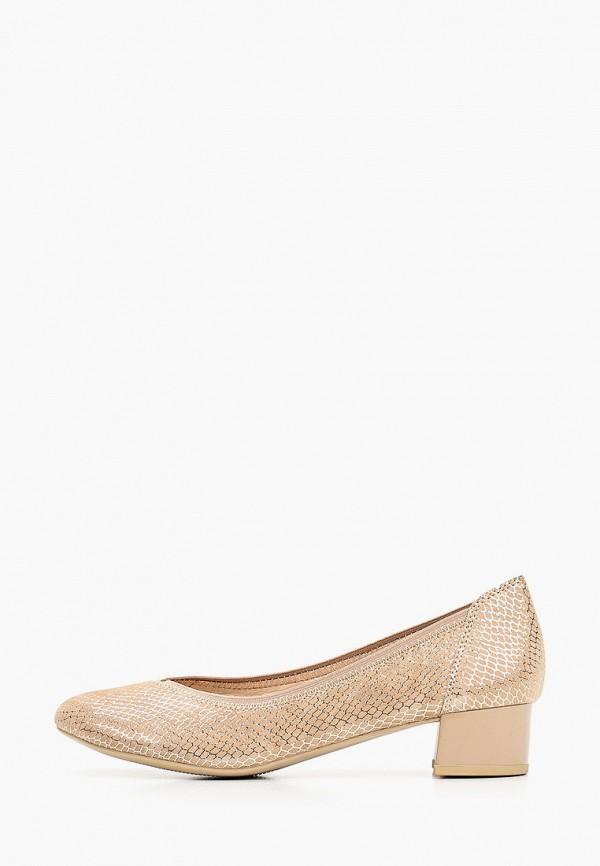 женские туфли caprice, золотые