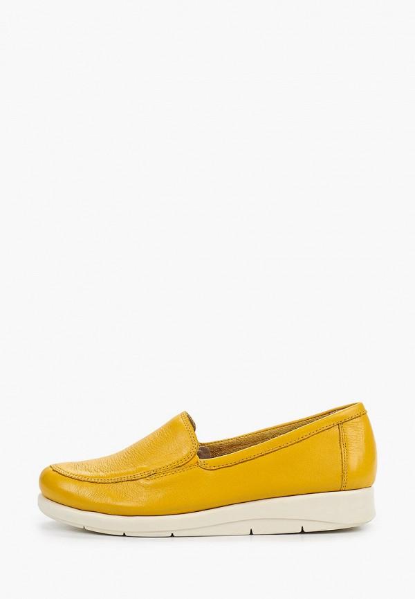 женские лоферы caprice, желтые