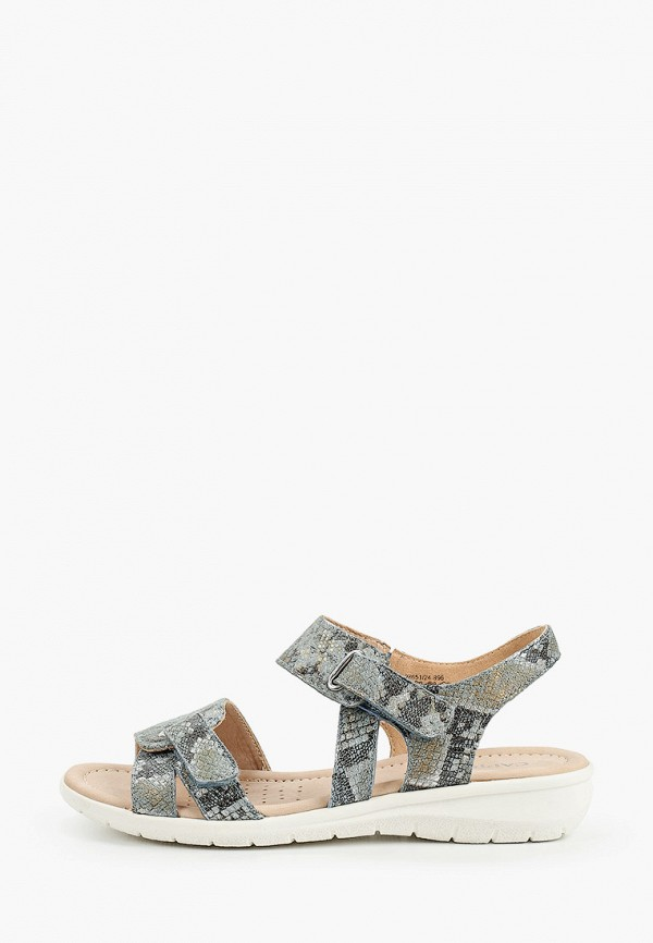 женские сандалии caprice, бирюзовые