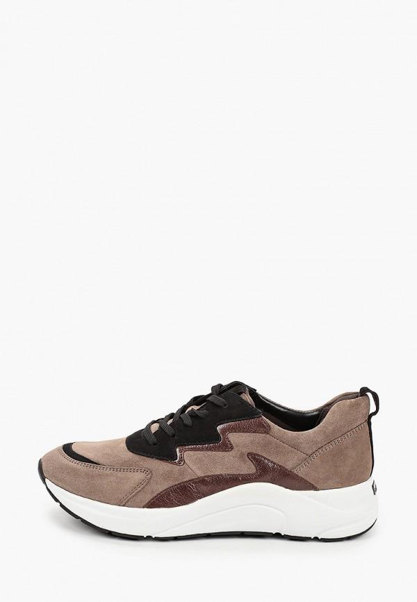 женские кроссовки caprice, коричневые