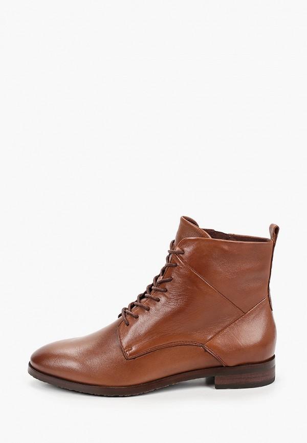 женские ботинки caprice, коричневые