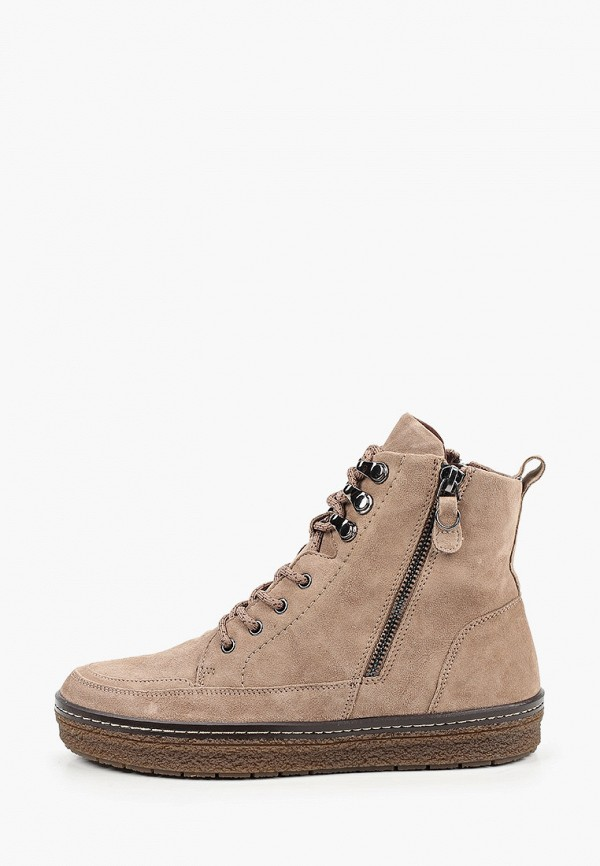 женские ботинки caprice, бежевые