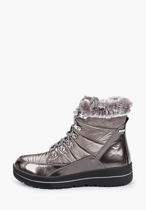 женские ботинки caprice, серебряные