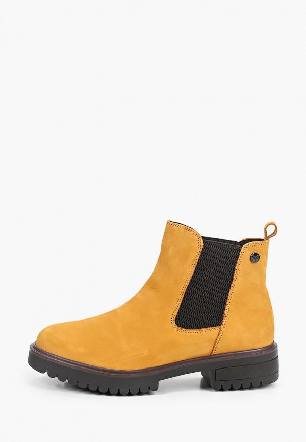 женские ботинки caprice, желтые