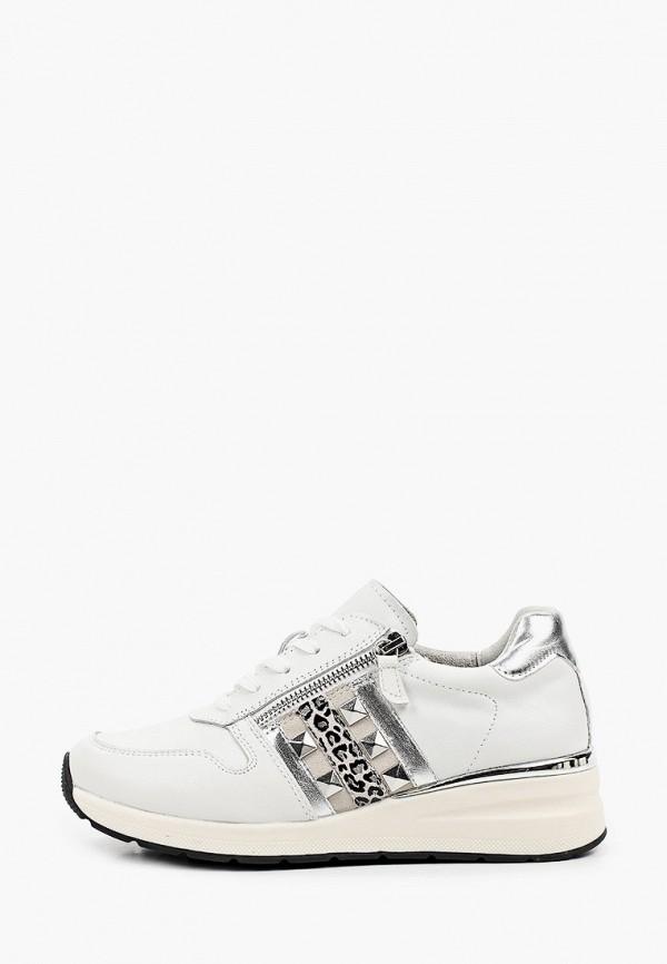 женские низкие кроссовки caprice, белые