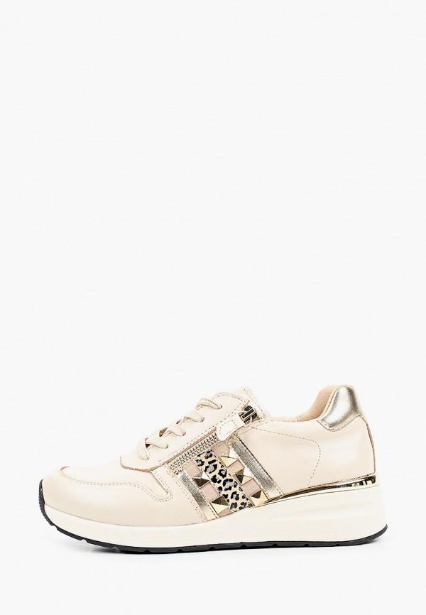 женские низкие кроссовки caprice, бежевые
