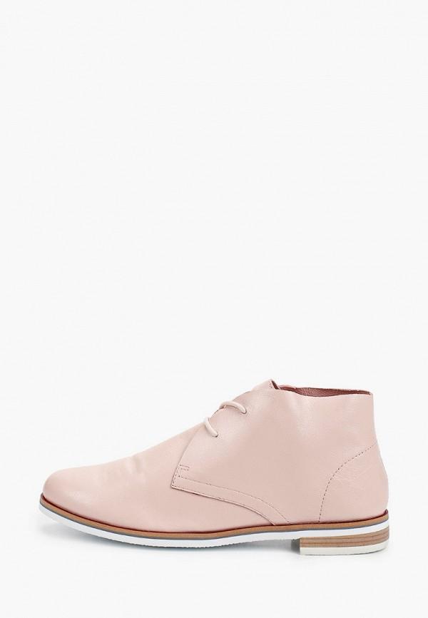 женские ботинки caprice, розовые
