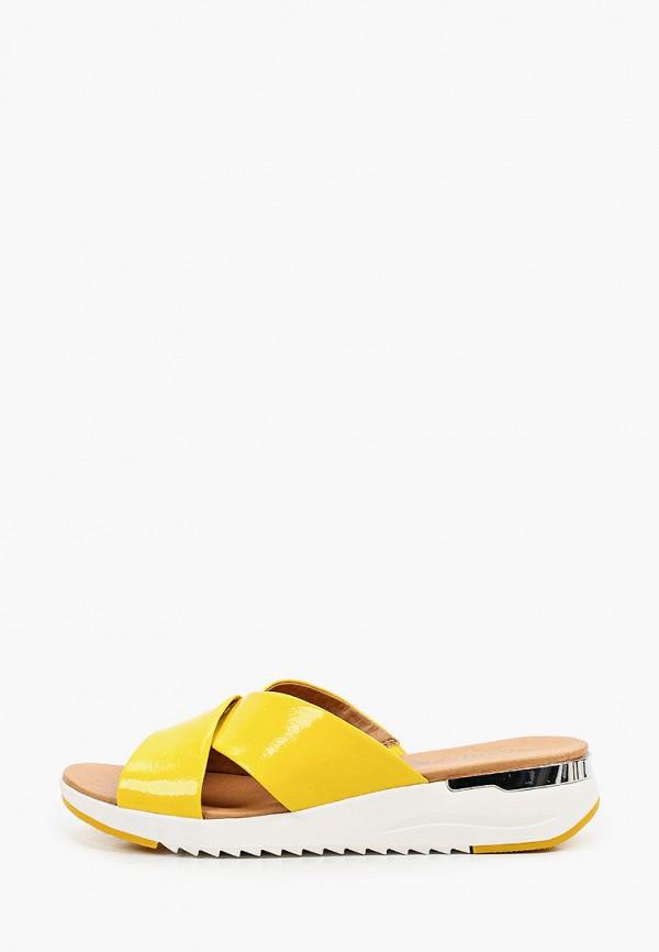 женское сабо caprice, желтое