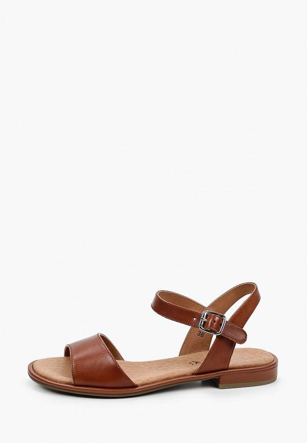 женские сандалии caprice, коричневые