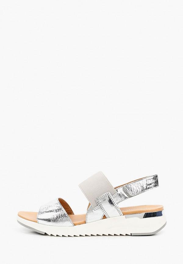 женские сандалии caprice, серебряные
