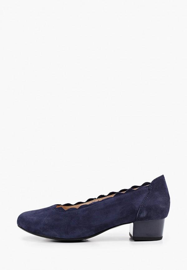 женские туфли с закрытым носом caprice, синие