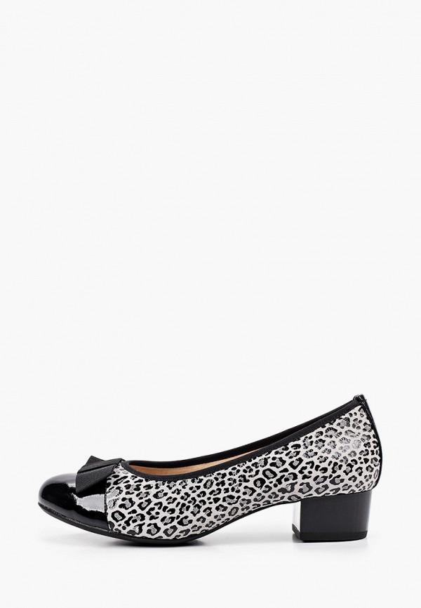 женские туфли с закрытым носом caprice, серые