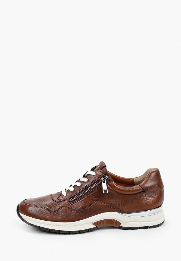 женские низкие кроссовки caprice, коричневые