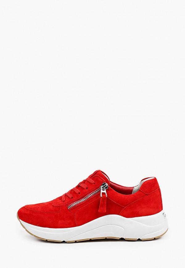женские низкие кроссовки caprice, красные