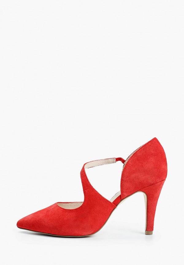 женские туфли caprice, красные