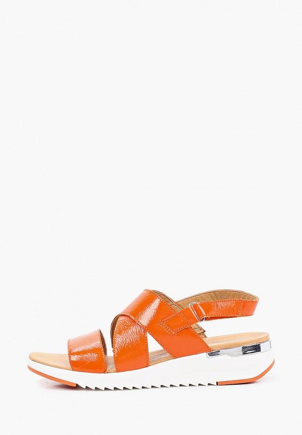 женские сандалии caprice, оранжевые