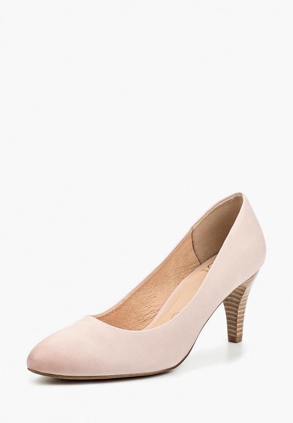 мужские туфли caprice, розовые