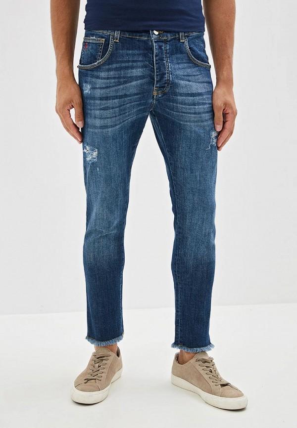 мужские зауженные джинсы castelbajac, синие