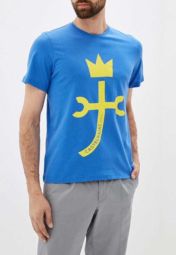 мужская футболка с коротким рукавом castelbajac, синяя