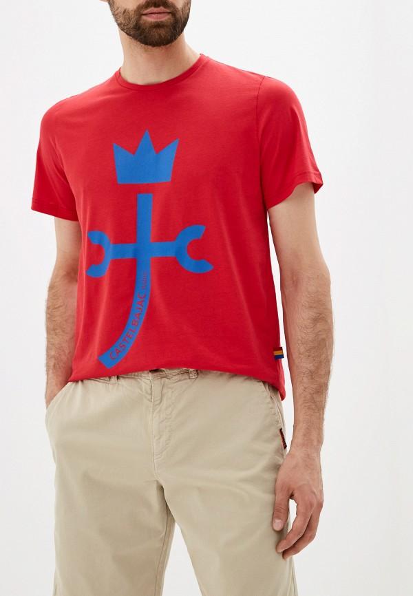 мужская футболка с коротким рукавом castelbajac, красная