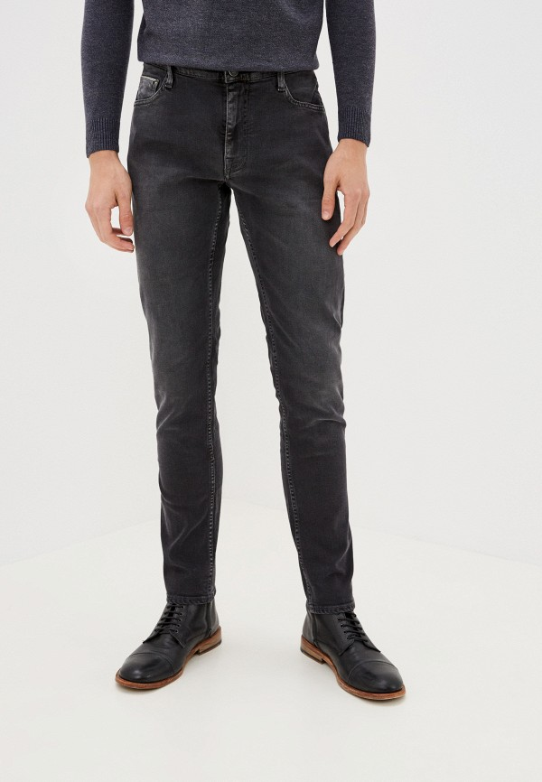 мужские зауженные джинсы care label, серые