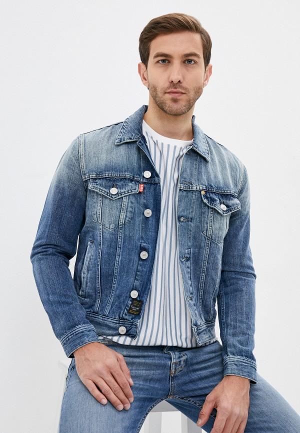 мужская джинсовые куртка care label, голубая