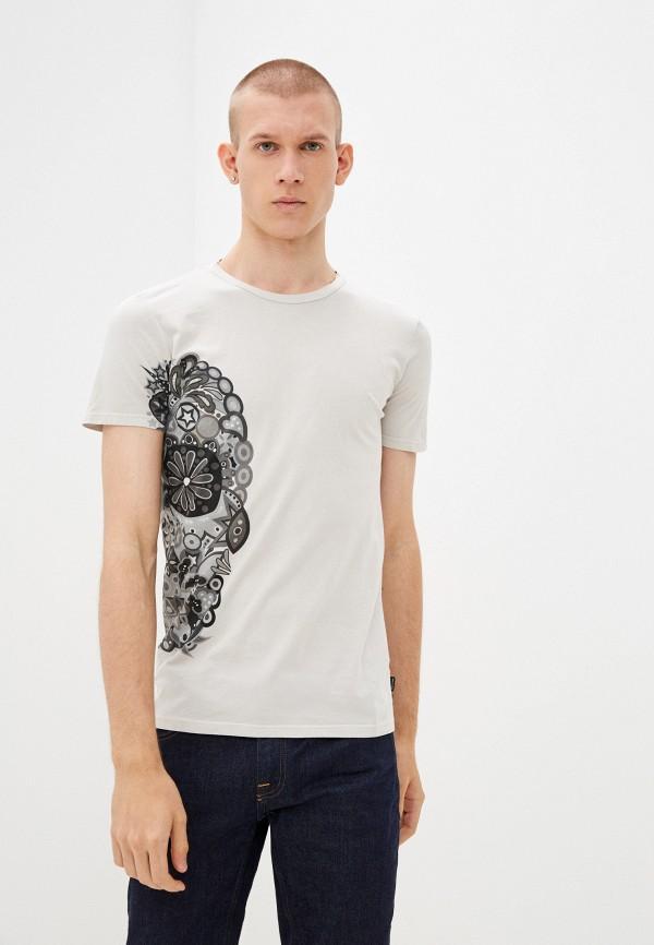 мужская футболка с коротким рукавом care label, бежевая