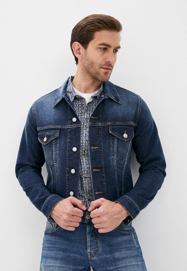 мужская джинсовые куртка care label, синяя