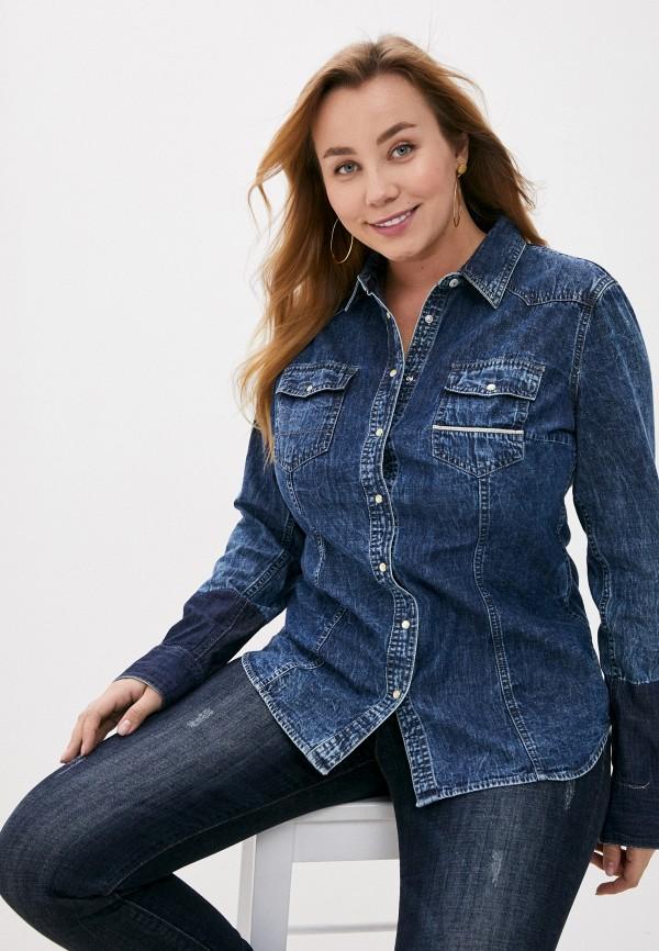 женская джинсовые рубашка care label, синяя