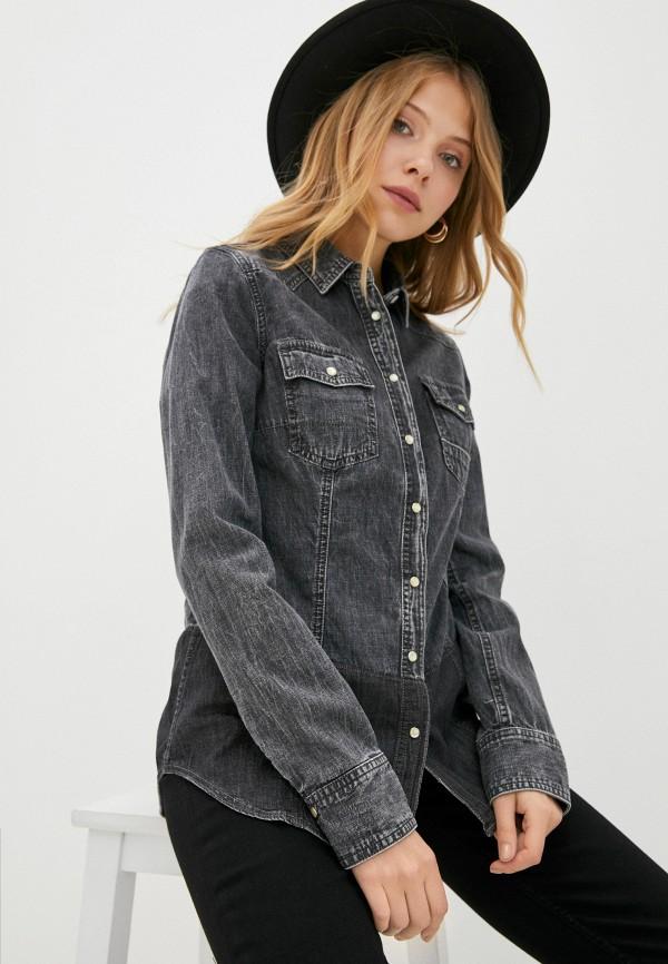 женская джинсовые рубашка care label, серая