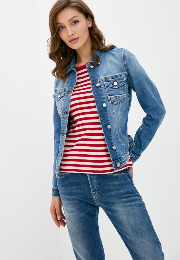женская джинсовые куртка care label, синяя