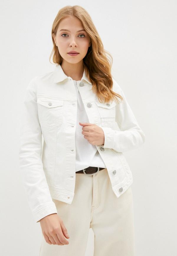 женская джинсовые куртка care label, белая
