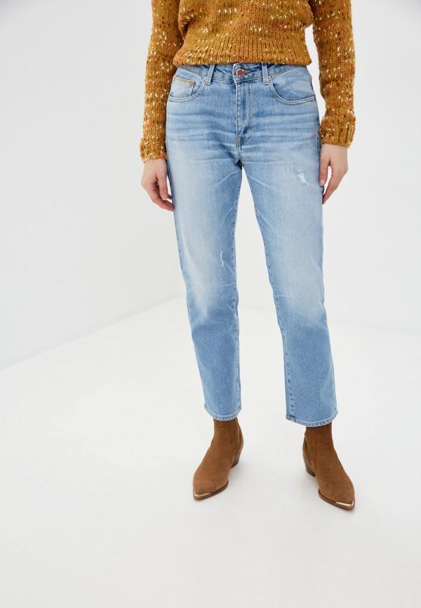 женские прямые джинсы care label, голубые