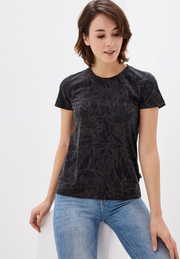 женская футболка care label, серая