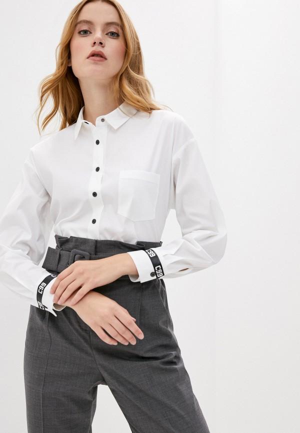 женская рубашка с длинным рукавом cappellini, белая