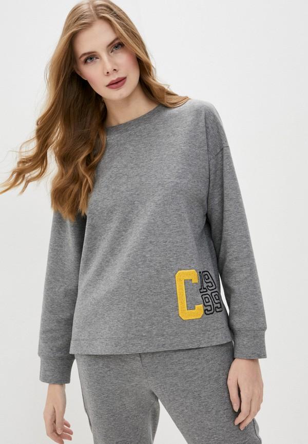 женский свитшот cappellini, серый