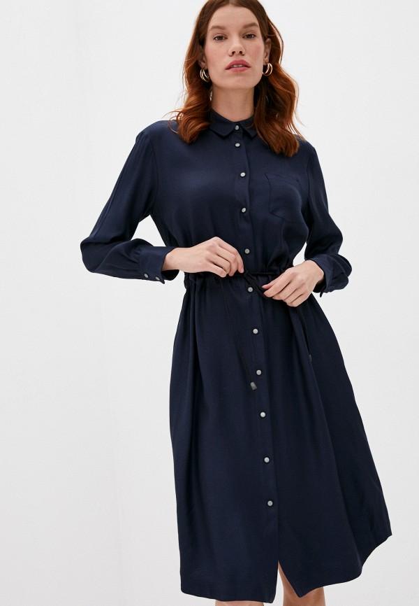 женское платье cappellini, синее