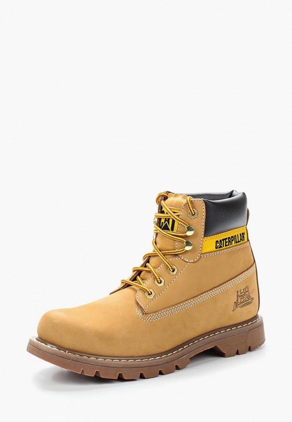 мужские ботинки caterpillar, желтые