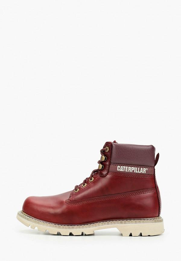 мужские ботинки caterpillar, бордовые