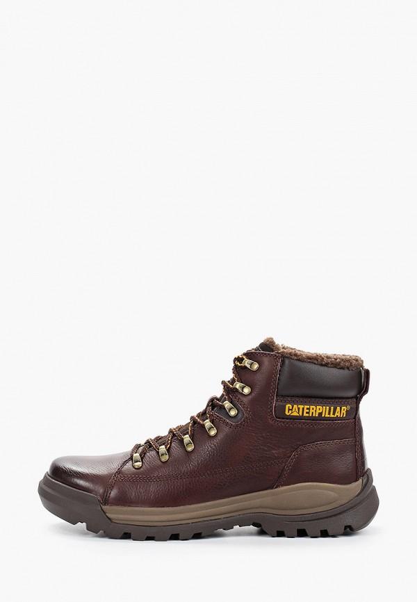 мужские высокие ботинки caterpillar, коричневые