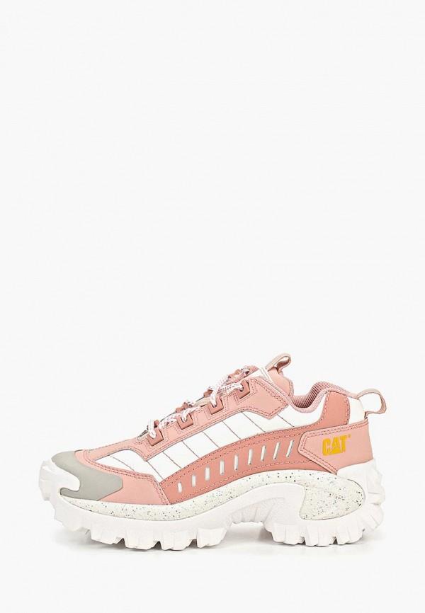 женские кроссовки caterpillar, розовые
