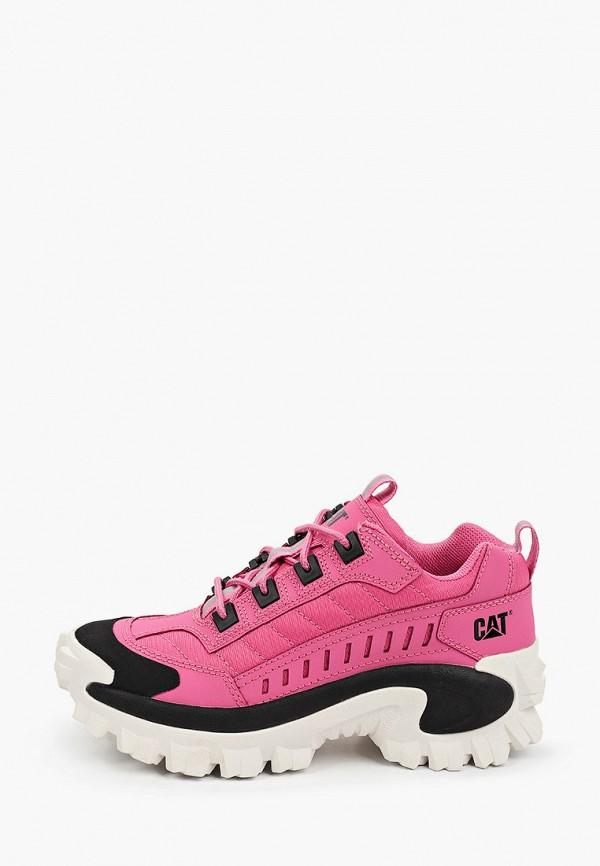 женские низкие кроссовки caterpillar, розовые