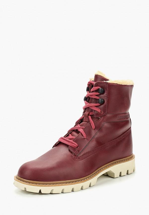 Купить Ботинки Caterpillar, BASIS FUR, CA213AWCPOB0, бордовый, Осень-зима 2018/2019