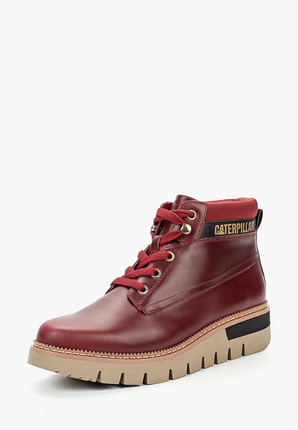 Купить Ботинки Caterpillar, PASTIME, CA213AWCPOD5, бордовый, Осень-зима 2018/2019