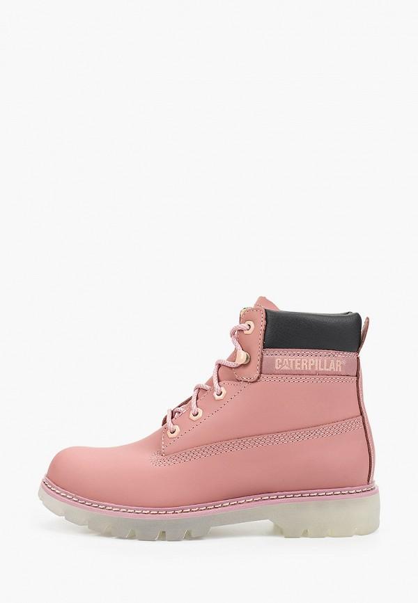 женские ботинки caterpillar, розовые
